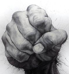 hand-drawn hand drawing by Paolo Troilo I always have Problems Drawing Hands ? But in this Awesome Drawing you can see this Artists has no Problems?
