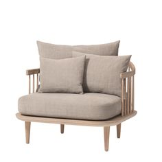 Fly SC1 Chair, nojatuoli, vaalea, tammi olohuone