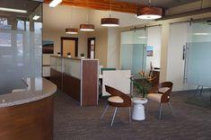 Modern, open office design by Hatch Interior Design, Kelowna, BC.