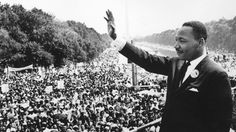 Martin Luther King delivering his 'I have a dream' speech at the 1963 March on Washington for Jobs and Freedom.