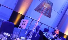 Beautiful lampshade table centres with two LED plates for amazing DMX lighting displays Dmx Lighting, Corporate Awards, Tall Table, Unique Centerpieces, Decoration Piece, Table Centers, Recent Events, As You Like, Candlesticks