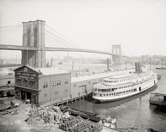 Brooklyn Bridge, New York, c1905, Vintage Photo