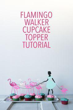 Lets Flamingle // Flamingo Walker Cake Topper //Legal Miss Sunshine