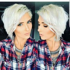 Take a look and get inspired by these amazing short blonde hair ideas ranging from celebrity-inspired dos to bobs, pixie cuts, retro glam, and so much more! Curly Hair Cuts, Short Hair Cuts, Short Hair Styles, Short Pixie, Pixie Cuts, My Hairstyle, Pretty Hairstyles, Hairstyle Ideas, Blonde Hairstyles