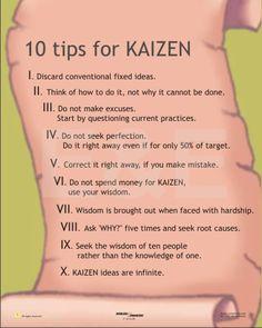 10 tips for kaizen                                                                                                                                                                                 Mehr