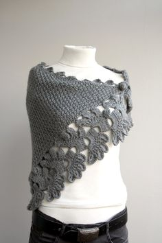 Gray knitted shawl - OMMIGOSH, I LOVE IT!