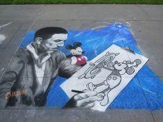 Disney chalk art ~ downtown Disney