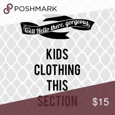 Kids clothing in this section His is to separate the kids clothing available. Please do not share this listing as it would be pointless. Thank you for browsing. Bundle to receive additional discounts in my closet. ❤🦄 Shoes