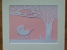 New Baby Personalised Papercut by PisazzCreations on Etsy, £30.00