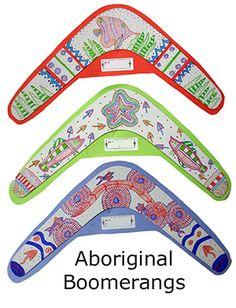 Aboriginal Boomerangs adapt dot art from 2012