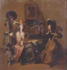 Hieronymus Janssens - lady with musicians Music in Paintings