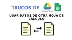 Compartir datos entre hojas de cálculo de #GoogleSheets es sencillo con la función =IMPORTRANGE(). Solo escribe la dirección, ¡y ya! Ideas y ejemplos de uso acá.  #productividad #gsuite #excel #formular #tips #buenviernes Formulas, Google Drive, Ideas, Google Hacks, Worksheets, Productivity, Simple, Thoughts