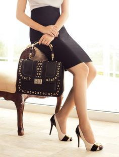 Work wear...purse doubles as brief case, or the other way around...either way...nice look for the office.