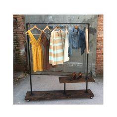 Pipe Furniture Clothing Rack - Clothes Rack - Garment Rack - 90 Rack Half Shelf