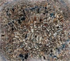 City Collage by Hubert Blanz / love the kind of mismatched aerial photography feel this has