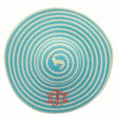 Monogrammed Swirl Sun Hat - 4 Colors Available Floppy Sun Hats, Monogram Jewelry, Teacher Gifts, Cosmetic Bag, Summer Fun, Things To Come, Kids Rugs, Style Inspiration, Blue