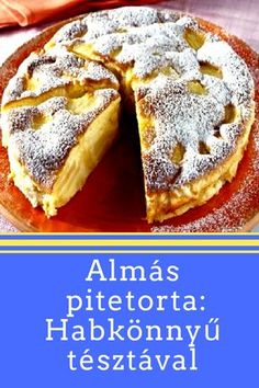 Apple Recipes, Baking Recipes, Sweet Recipes, Cake Recipes, Dessert Recipes, Hungarian Desserts, Hungarian Recipes, Delicious Desserts, Yummy Food