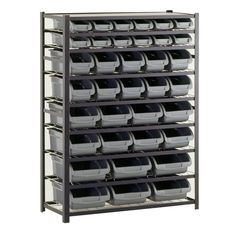 Sandusky 36 Bin Black Industrial Storage Rack - Sam's Club