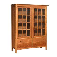 Modern Shaker China Cabinet - Bookcase
