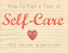 How to Plan A Year Of Self Care