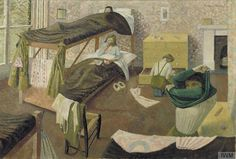 Evelyn Mary Dunbar, Land Army Girls going to Bed,1943