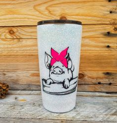 Pig Cup White 20 oz. Glitter Tumbler with Bandana Pig and   Etsy Girls Tumbler, Tumbler Cups, Diy Tumblers, Glitter Tumblers, Pot Belly Pigs, Country Outfits, Crafty Projects, Bandana, Epoxy