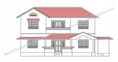 4 Bedroom Stylish Home Design in 1820 Sqft with Free Plan - Free Kerala Home Plans 4 Bedroom House Plans, Kerala House Design, Kerala Houses, Autocad, Second Floor, Contemporary, Modern, Floor Plans, Flooring