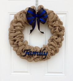 A personal favorite from my Etsy shop https://www.etsy.com/listing/220731597/police-family-wreath-leo-wreath