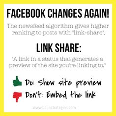 Facebook changes their newsfeed algorithm again   www.bellestrategies.com