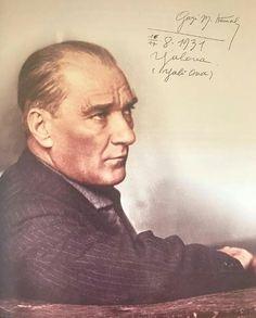 Gazi Mustafa Kemal Atatürk'ün imzalı fotoğrafı - Yalova, 16/17 Ağustos 1931.