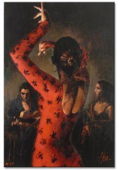 "FABIAN PEREZ Limited Edition ""Tablado Flamenco"""