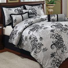 Welcome Industrial Varenne Silver 7 Piece Comforter Set Comforter Sets