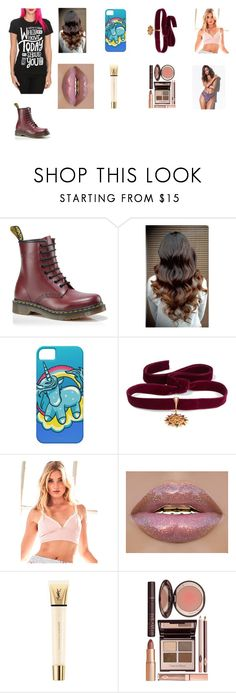 """""""Sleeping With Sirens"""" by cassieee-m ❤ liked on Polyvore featuring Dr. Martens, Diego Percossi Papi, Victoria's Secret, Yves Saint Laurent and Charlotte Tilbury"""