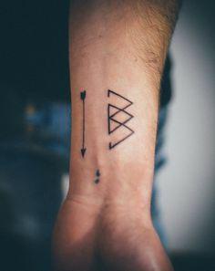 An awesome minimalistic tattoo design