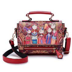 7bc77d39f883 New Women Crossbody Bag Ladies High Quality National Women Handbags Genuine  Leather Flap Messenger Bags Sac a Main Shoulder Bags