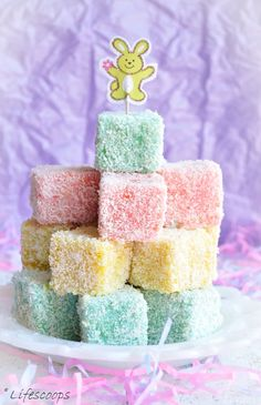 Lamingtons - Australian finger cakes, which are made by coating the yellow cake with chocolate icing and then rolling them in coconut.