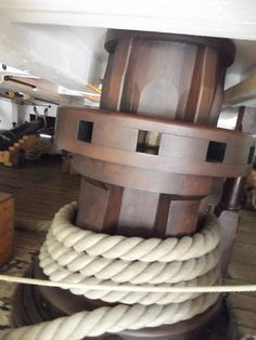 HMS Victory - Portsmouth Historic Dockyard - Lower Deck - Main or Centreline Capstan | Flickr - Photo Sharing!