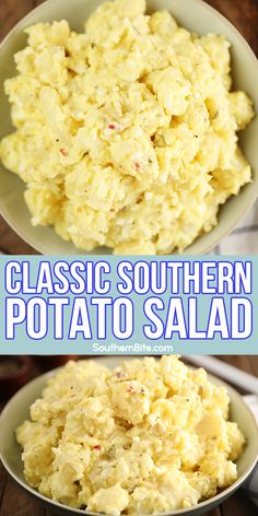 This recipe for my Classic Southern Potato Salad is the potato salad I grew up with. It's mayonnaise and mustard based with the perfect blend of onions, boiled eggs, and pickle relish. And it's crazy easy!