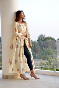 Shop for Designer Dresses, Accessories & More for Women, Men and Kids Simple Kurti Designs, Stylish Dress Designs, Kurta Designs Women, Stylish Dresses, Casual Dresses, Salwar Designs, Frock Fashion, Fashion Dresses, Jeans Fashion