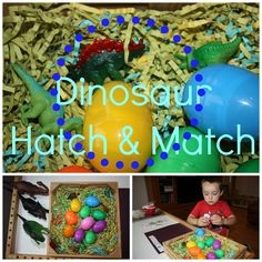 Easy dinosaur activities for preschoolers for exploring and learning all about dinosaurs. Our dinosaur activities feature great hands on learning and sensory play. Dinosaurs Preschool, Dinosaur Activities, Pre K Activities, Dinosaur Crafts, Preschool Themes, Learning Activities, Preschool Class, Preschool Science, Educational Activities