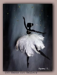 Swan Ballerina gift for kids nursery room decor kids room