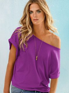 Off-the shoulder tee #VS