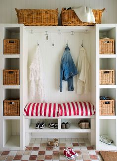 Like the design but would put basket on one side only and leave room for hanging coats on hangers.