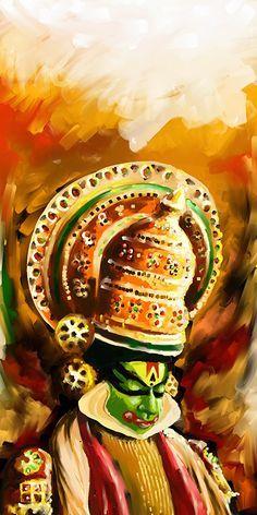 Image result for kathakali oil painting