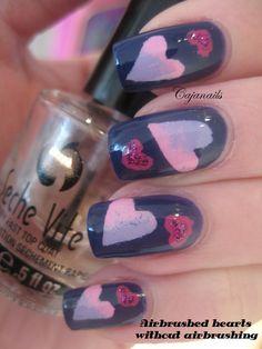 Nail art Hearts!