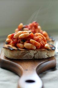 Italian Beans on Toast via www.realitalianfoodies.com