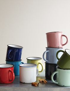 our tinware mugs are a great way to add a spot of color to your table
