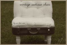 Have you ever thought about upcycling a suitcase into a cute cushy chair? We have! This is a great step by step tutorial with pictures and all!