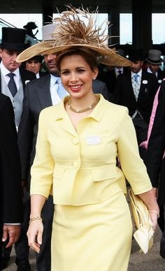 Princess Haya Bint Al Hussein of Jordan,  Daughter of King Hussein of Jordan and his third wife, Queen Alis.  HRH, Princess Haya is the half sister of the current King Abdullah of Jordan and Junior wife of Sheikh Mohammed bin Rashid Al Maktoum, ruler of Dubai.