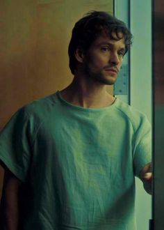 I don't understand how Hugh Dancy manages to look like a model even in a HOSPITAL GOWN. #Hannibal
